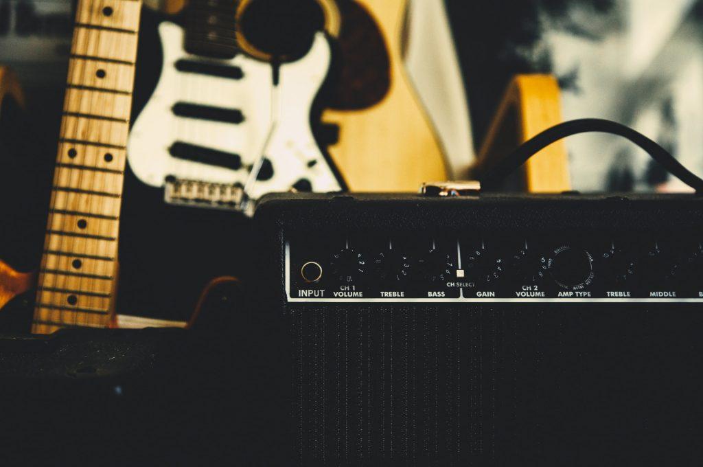 Guitar and amp.