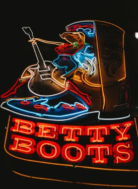 Betty Boots sign.